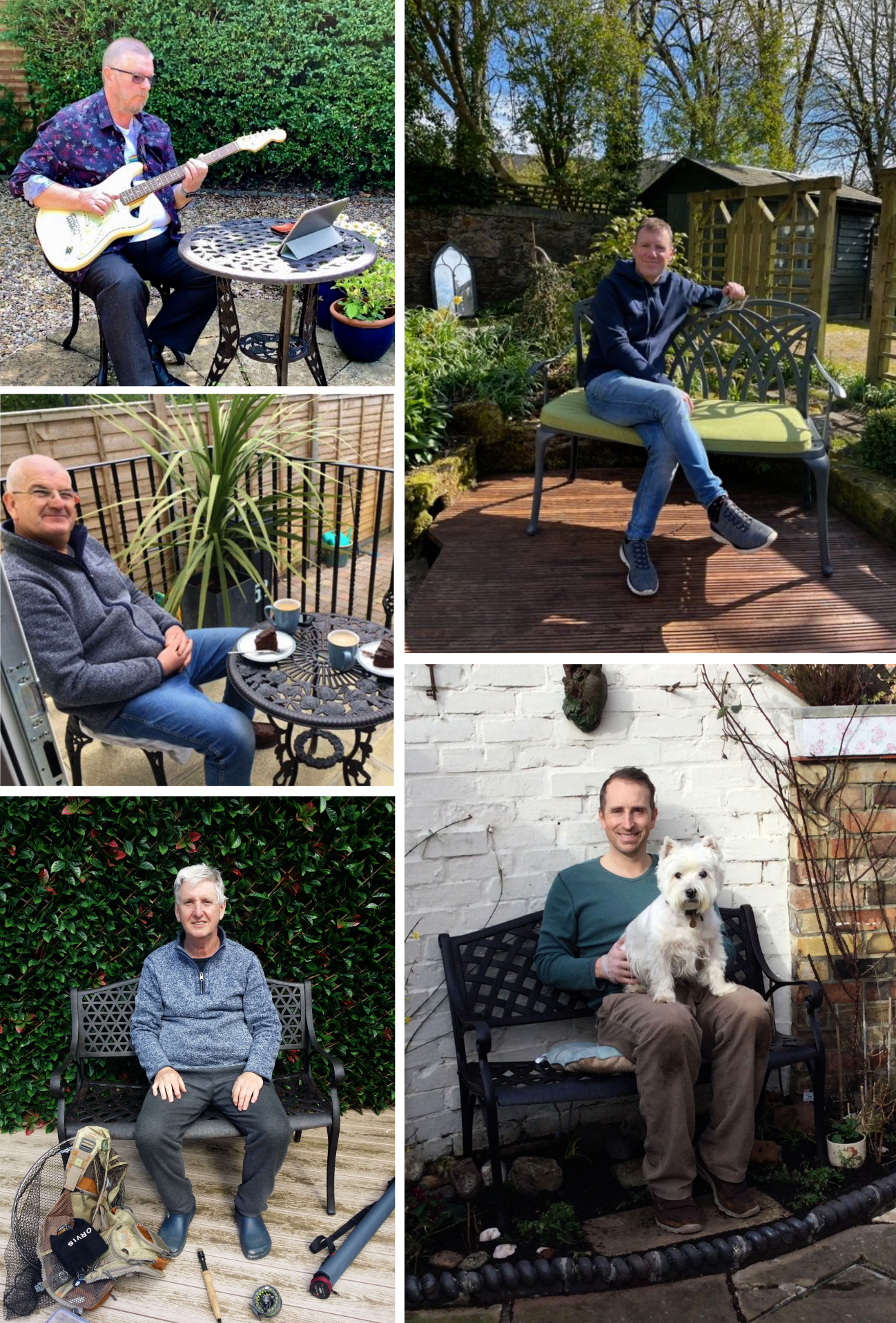 Dads with Lazy Susan Bistro Sets & Garden Benches