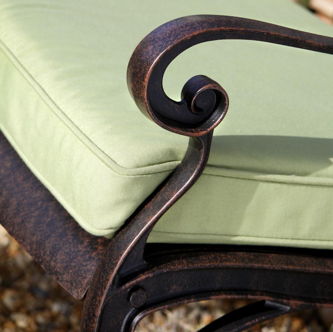 April Garden Bench Cushion in Stone