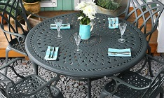 Lazy Susan Alice - Slate (4 seater set)