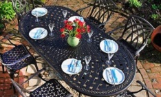 6 seat metal garden furniture daily deal