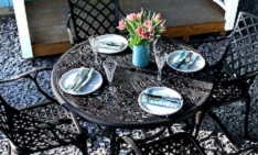 4 seat metal garden furniture daily deal