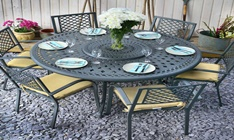 slate grey 6 seater frances table