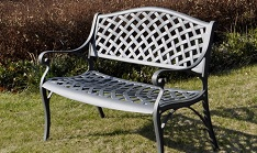 slate grey 2 seater jasmine bench