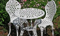 bistro metal furniture daily deal