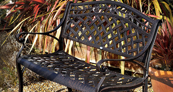 metal garden benches
